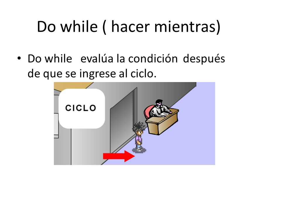Do while ( hacer mientras)