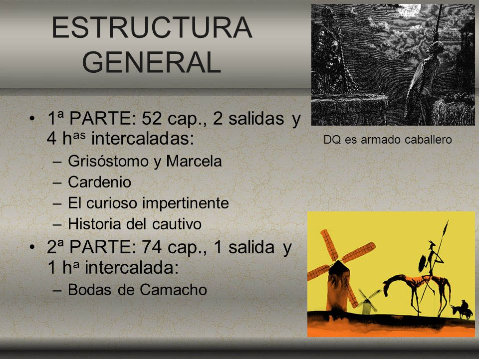 ESTRUCTURA GENERAL 1ª PARTE: 52 cap., 2 salidas y 4 has intercaladas: