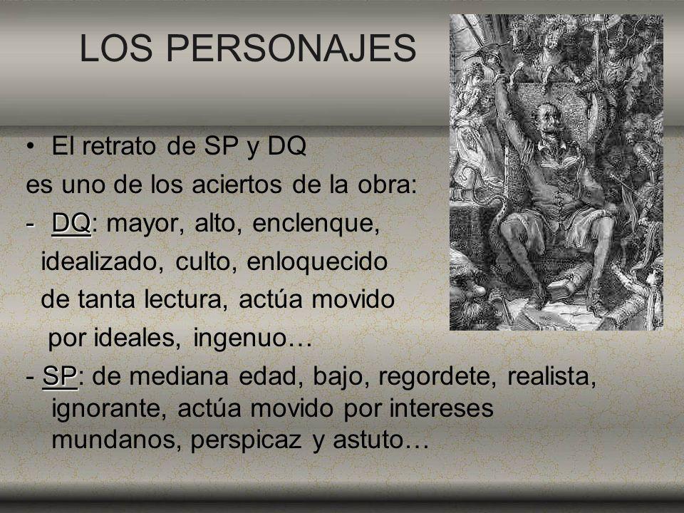 LOS PERSONAJES El retrato de SP y DQ