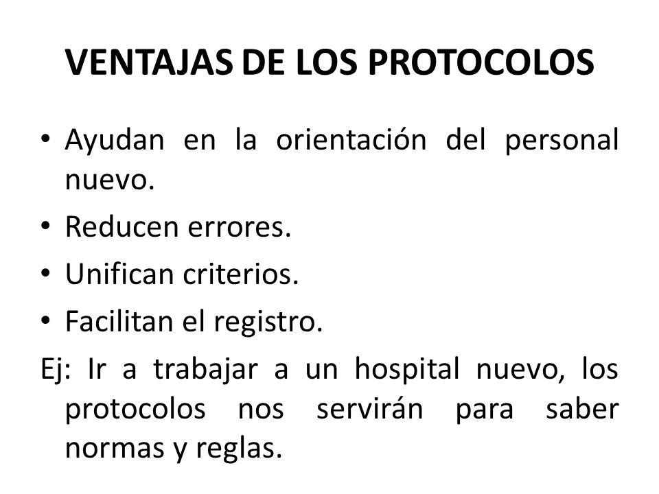 VENTAJAS DE LOS PROTOCOLOS