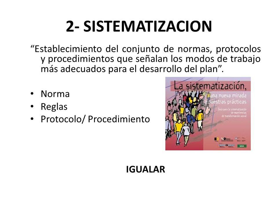 2- SISTEMATIZACION