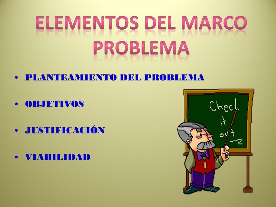 Elementos del marco problema