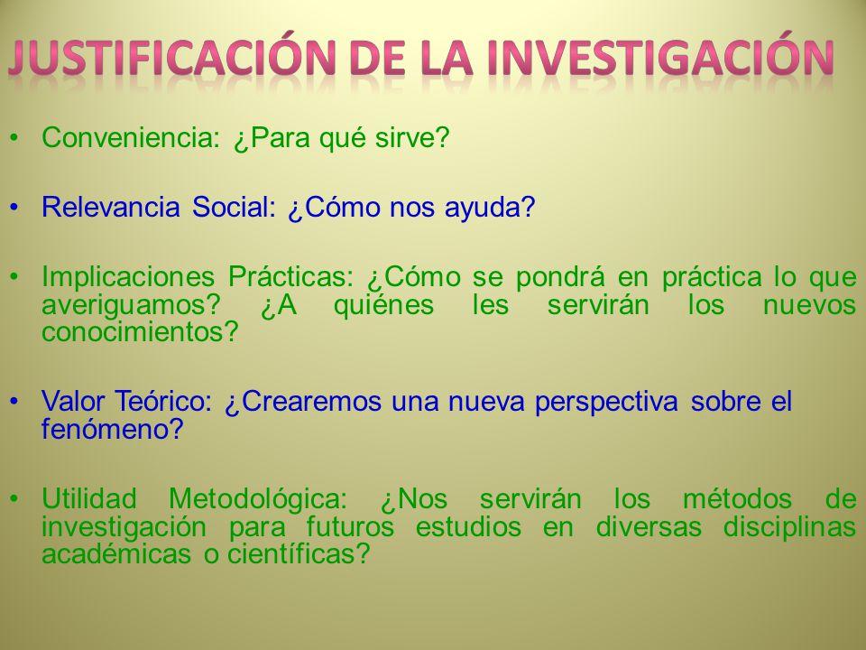 Justificación de la investigación
