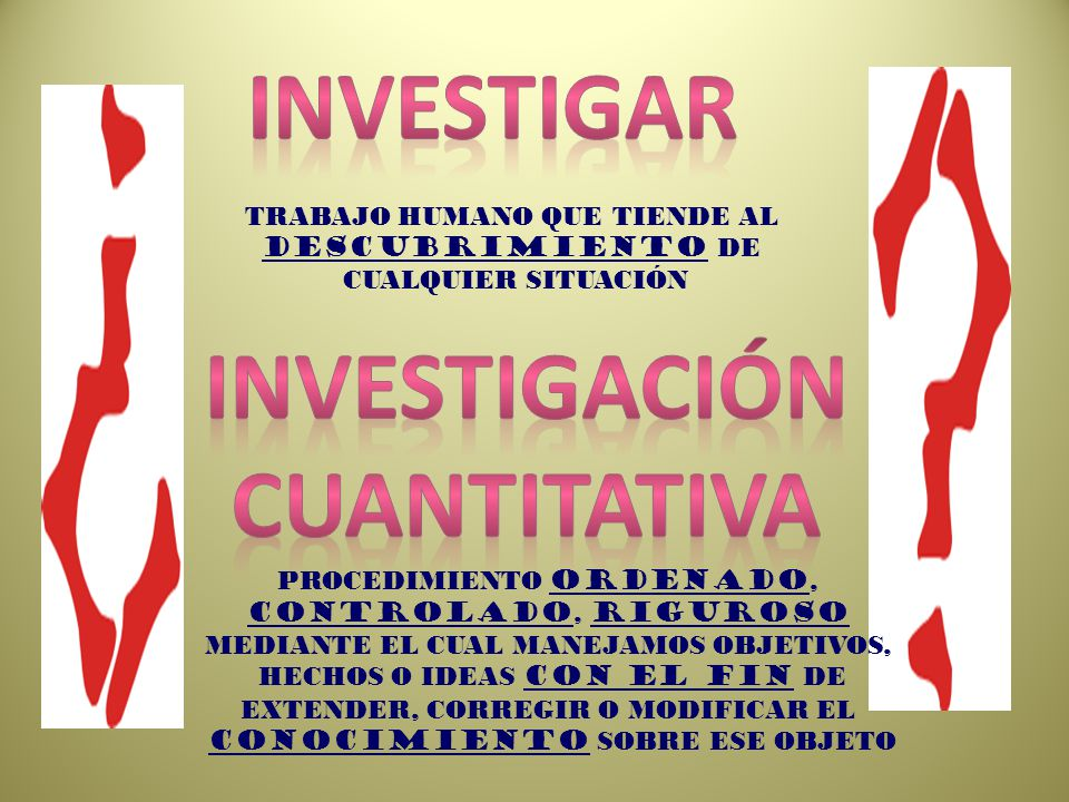 Investigar Investigación cuantitativa