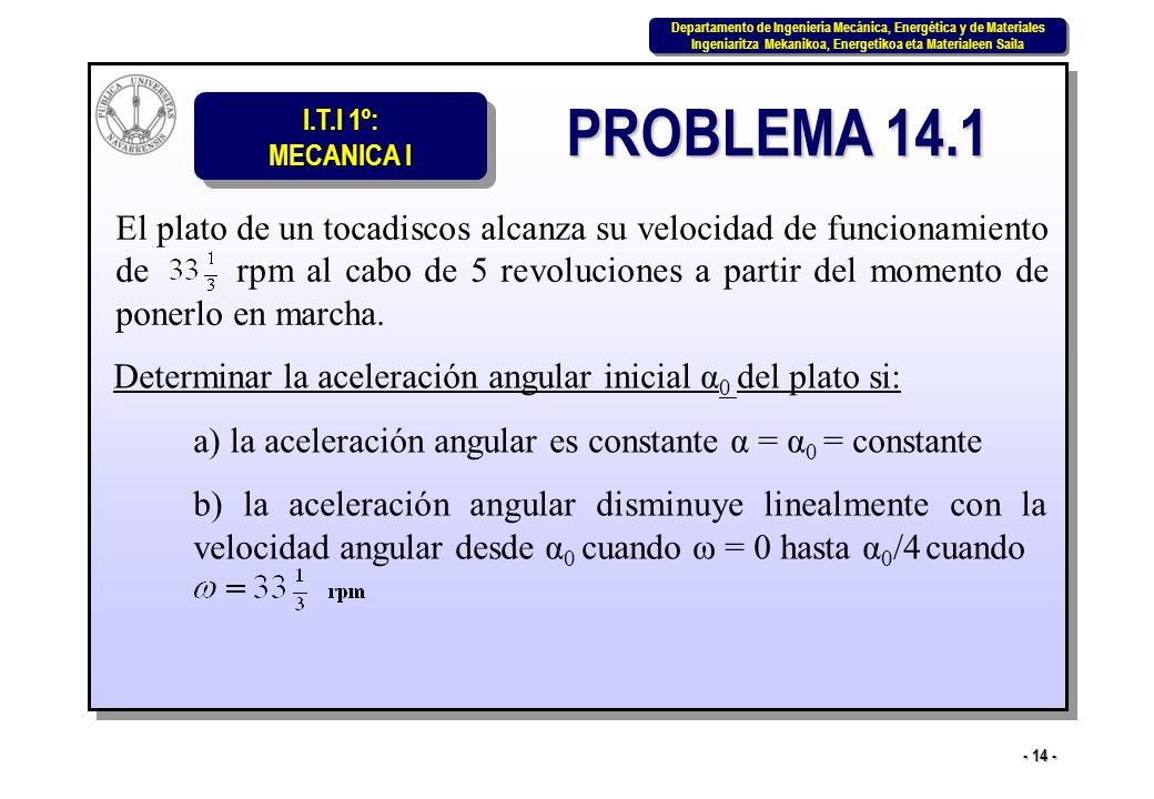 PROBLEMA 14.1