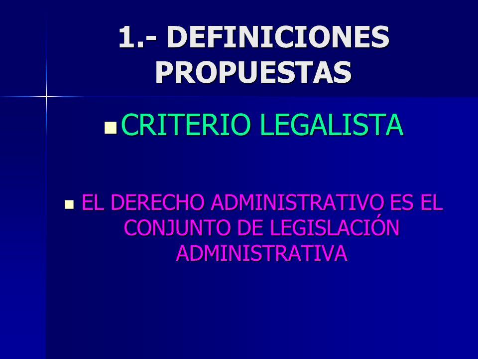 1.- DEFINICIONES PROPUESTAS