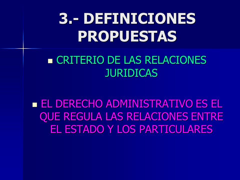 3.- DEFINICIONES PROPUESTAS