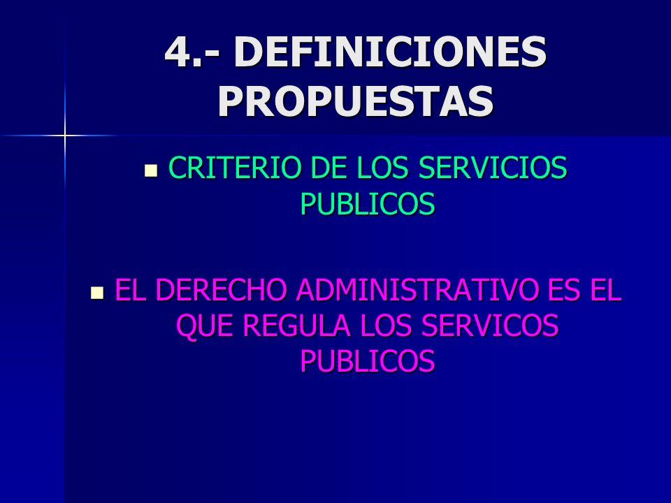 4.- DEFINICIONES PROPUESTAS