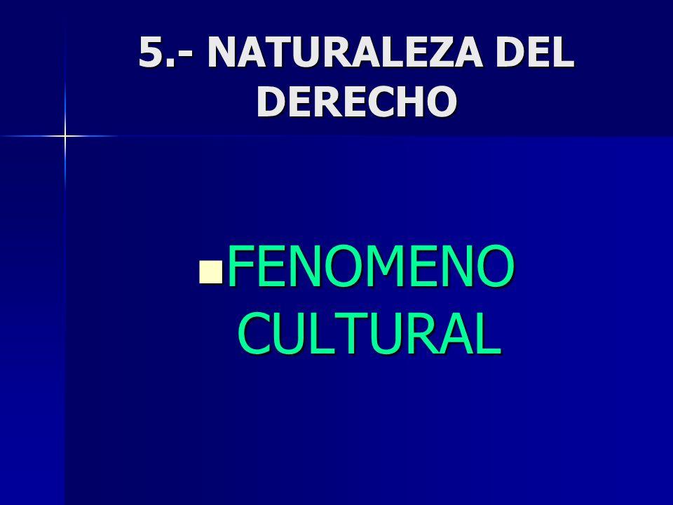 5.- NATURALEZA DEL DERECHO