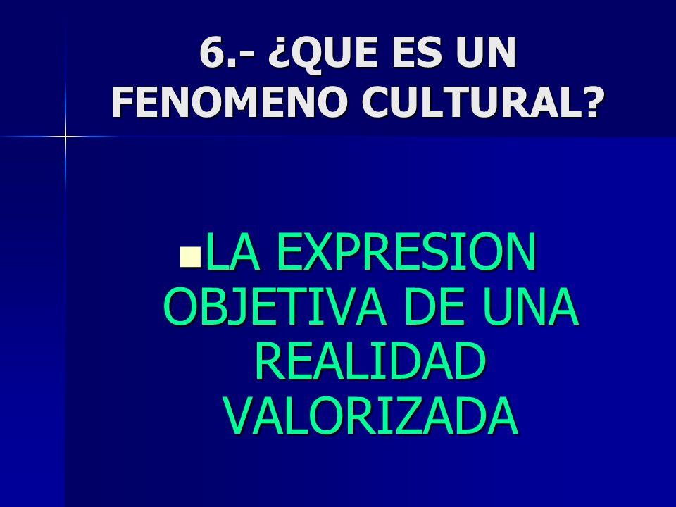 6.- ¿QUE ES UN FENOMENO CULTURAL