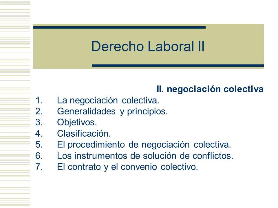 Derecho Laboral II II. negociación colectiva La negociación colectiva.