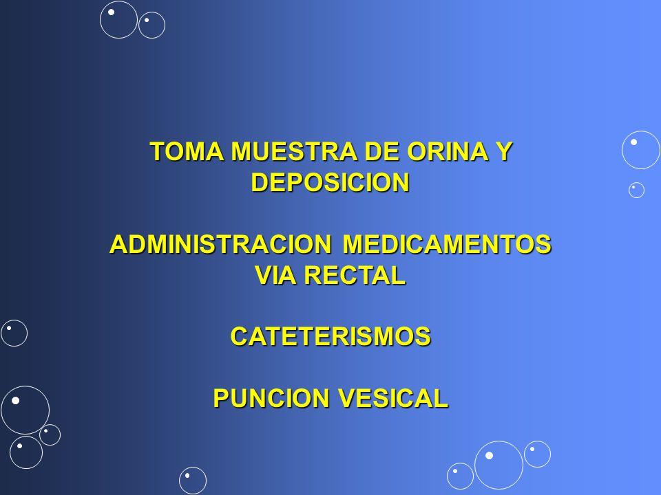 TOMA MUESTRA DE ORINA Y DEPOSICION