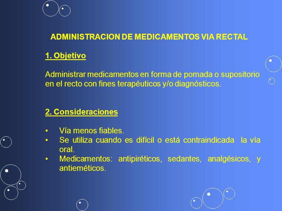 ADMINISTRACION DE MEDICAMENTOS VIA RECTAL