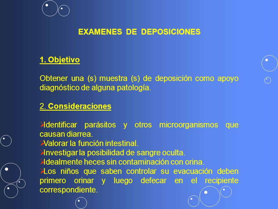 EXAMENES DE DEPOSICIONES