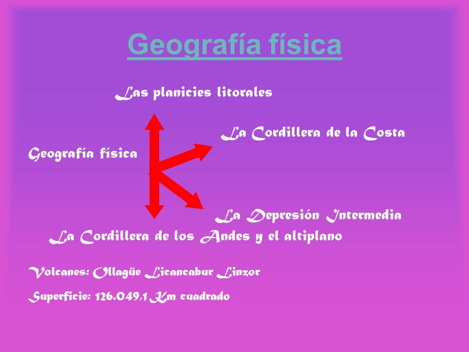 Geografía física Las planicies litorales La Cordillera de la Costa