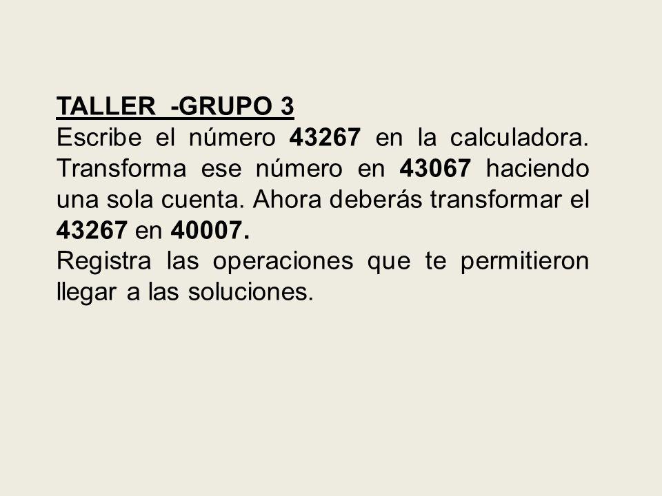 TALLER -GRUPO 3