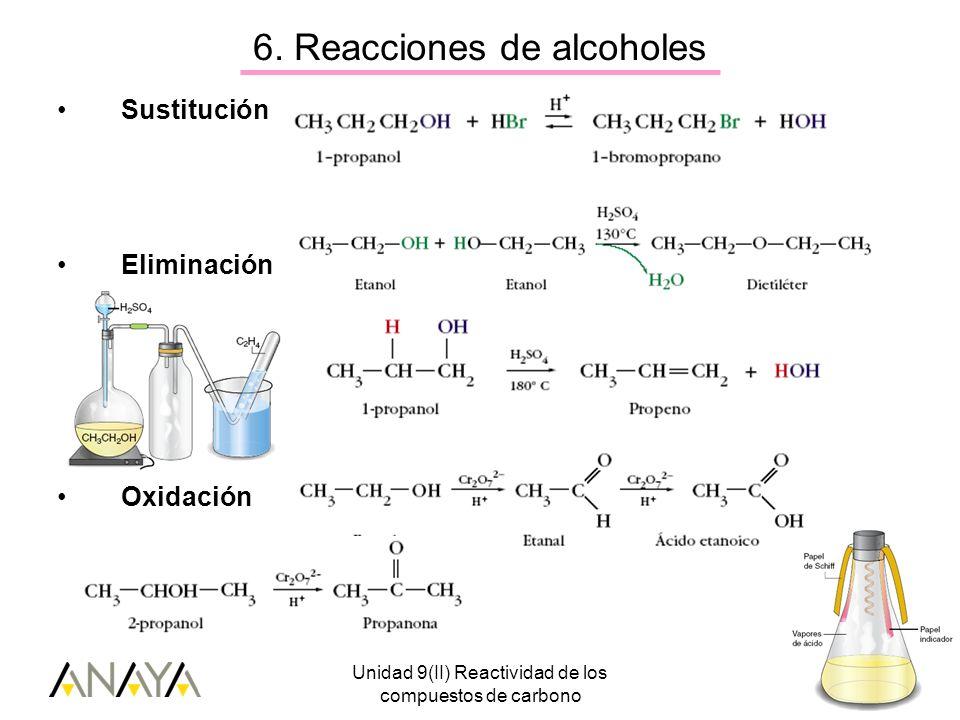 6. Reacciones de alcoholes