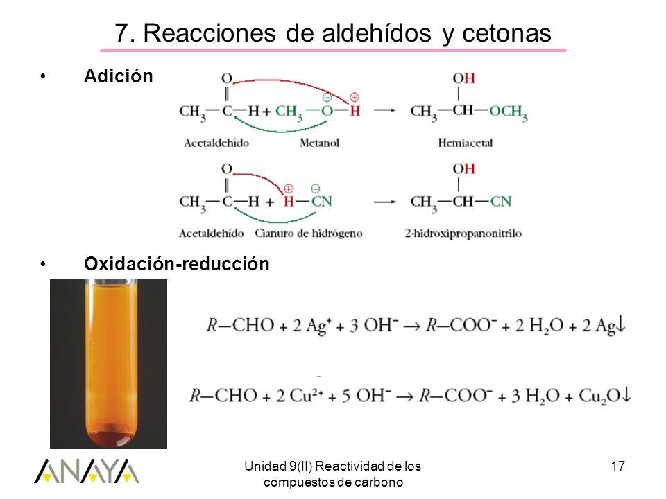 7. Reacciones de aldehídos y cetonas