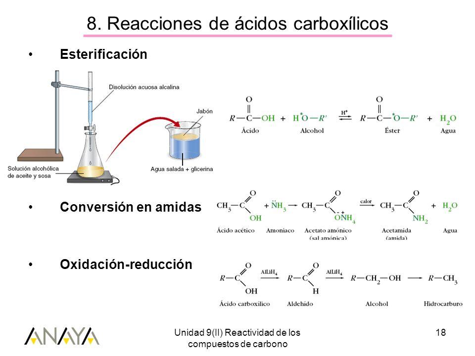 8. Reacciones de ácidos carboxílicos