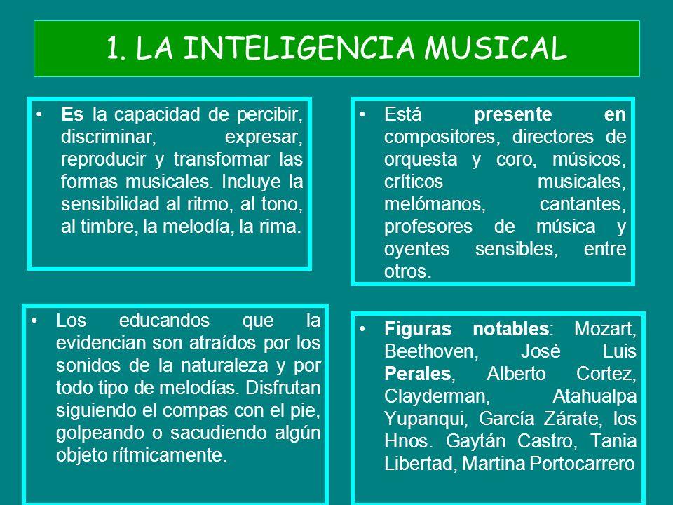 1. LA INTELIGENCIA MUSICAL