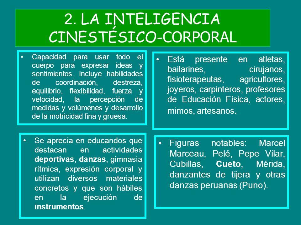 2. LA INTELIGENCIA CINESTÉSICO-CORPORAL