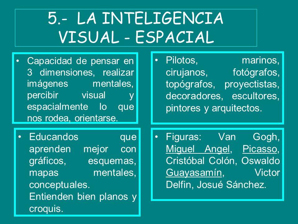 5.- LA INTELIGENCIA VISUAL - ESPACIAL