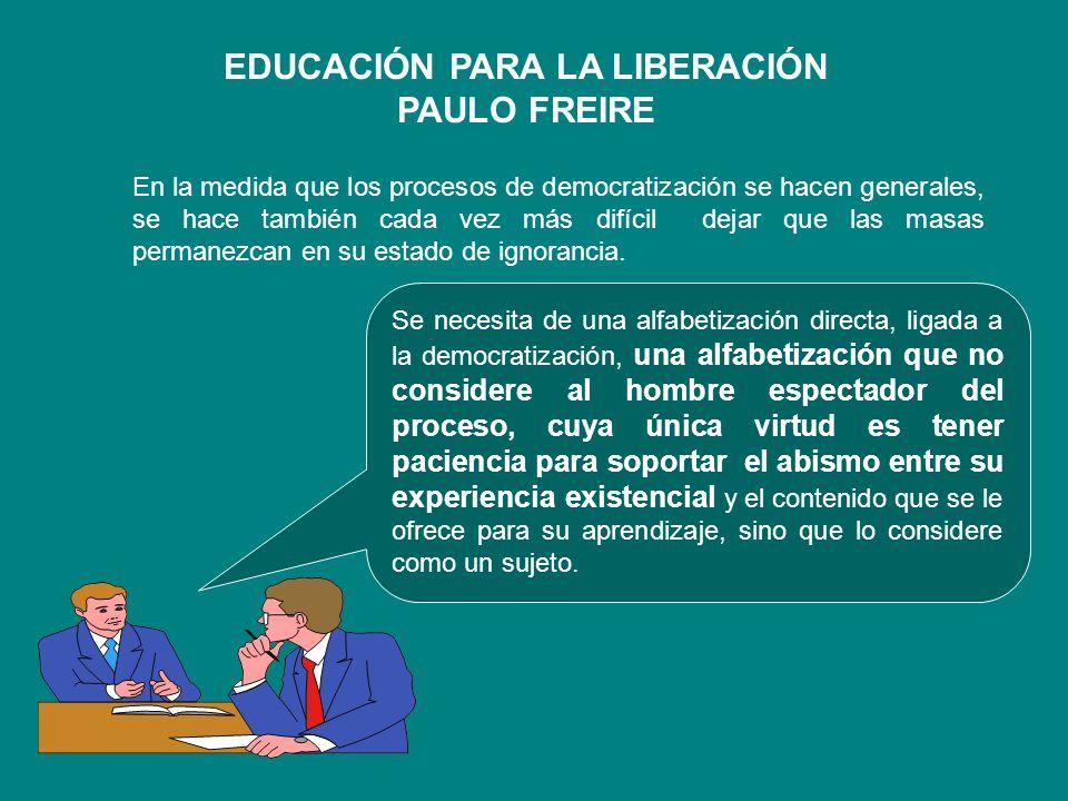 EDUCACIÓN PARA LA LIBERACIÓN