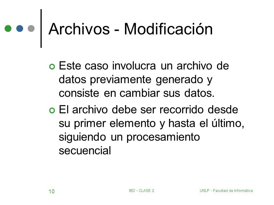 Archivos - Modificación