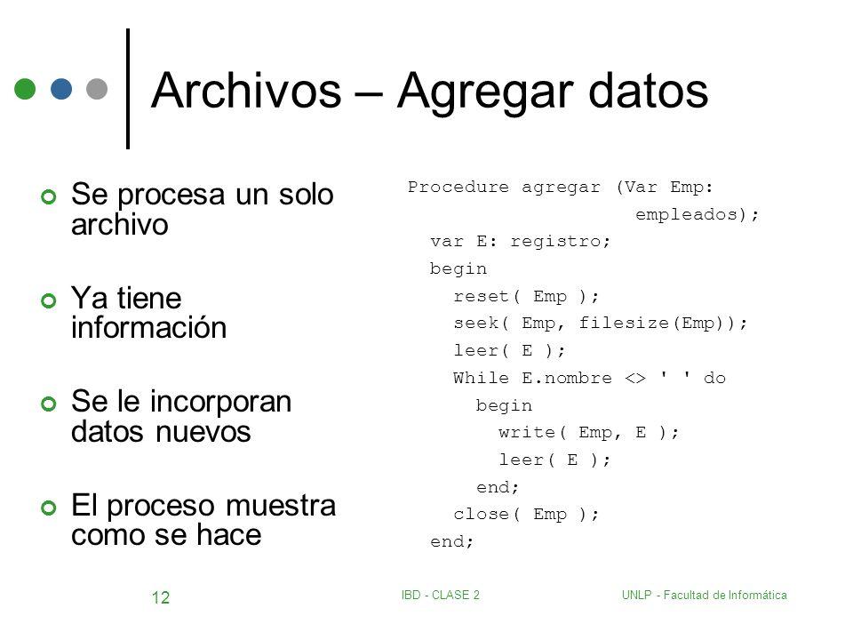 Archivos – Agregar datos