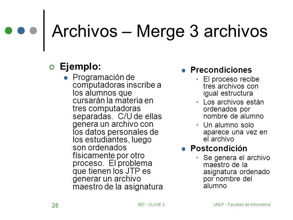 Archivos – Merge 3 archivos