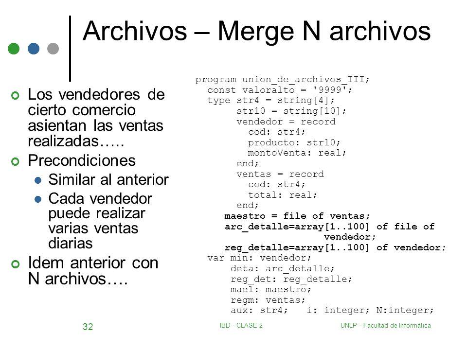 Archivos – Merge N archivos