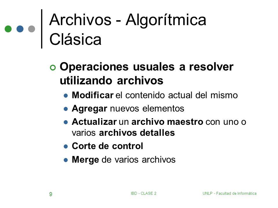Archivos - Algorítmica Clásica
