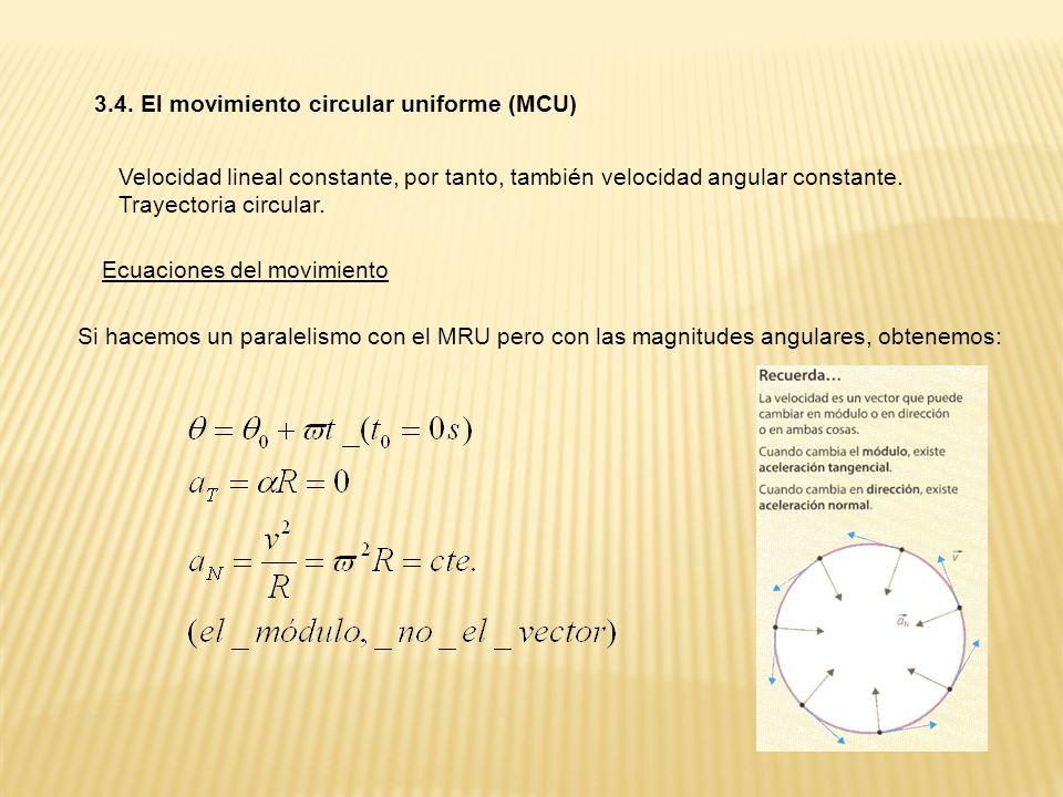 3.4. El movimiento circular uniforme (MCU)