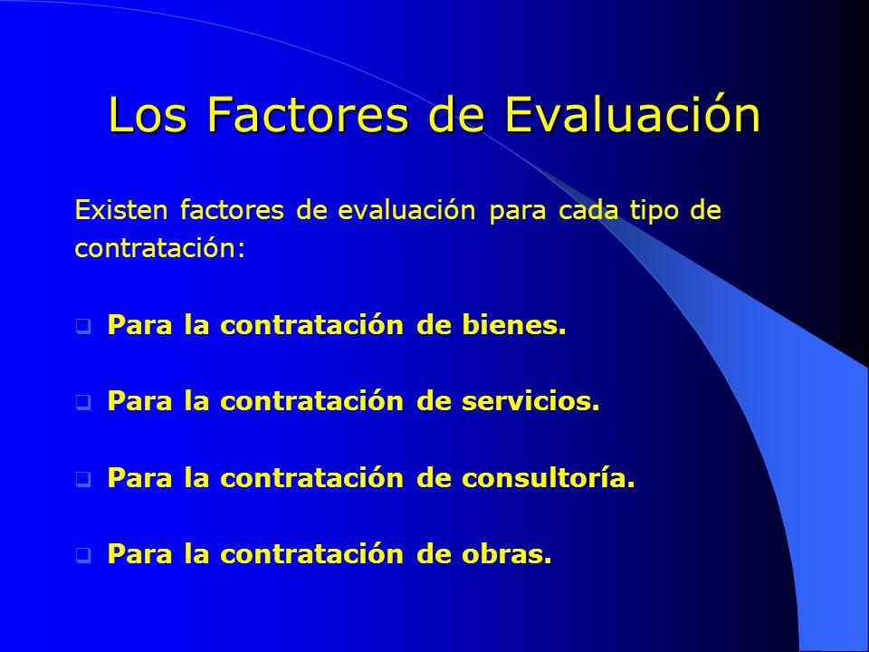 Los Factores de Evaluación