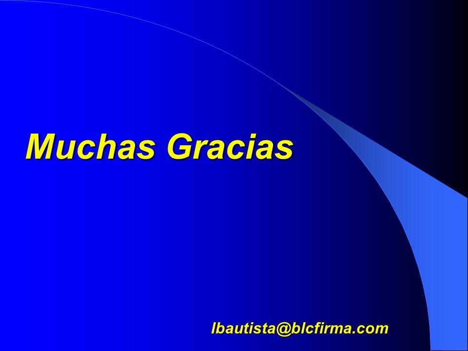 Muchas Gracias lbautista@blcfirma.com