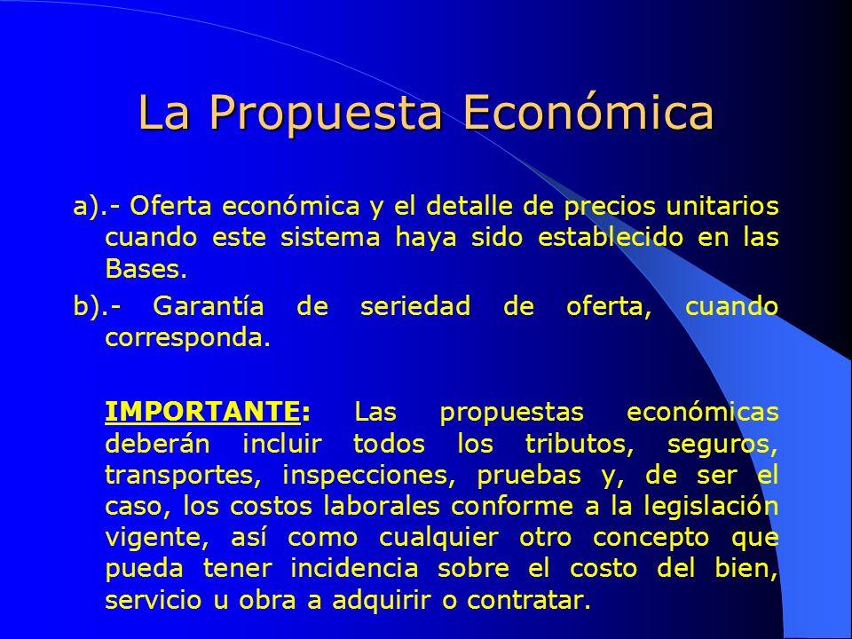 La Propuesta Económica