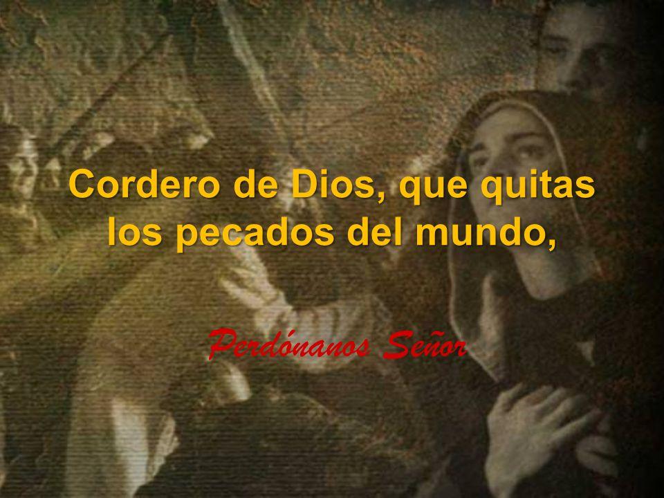 Cordero de Dios, que quitas los pecados del mundo,