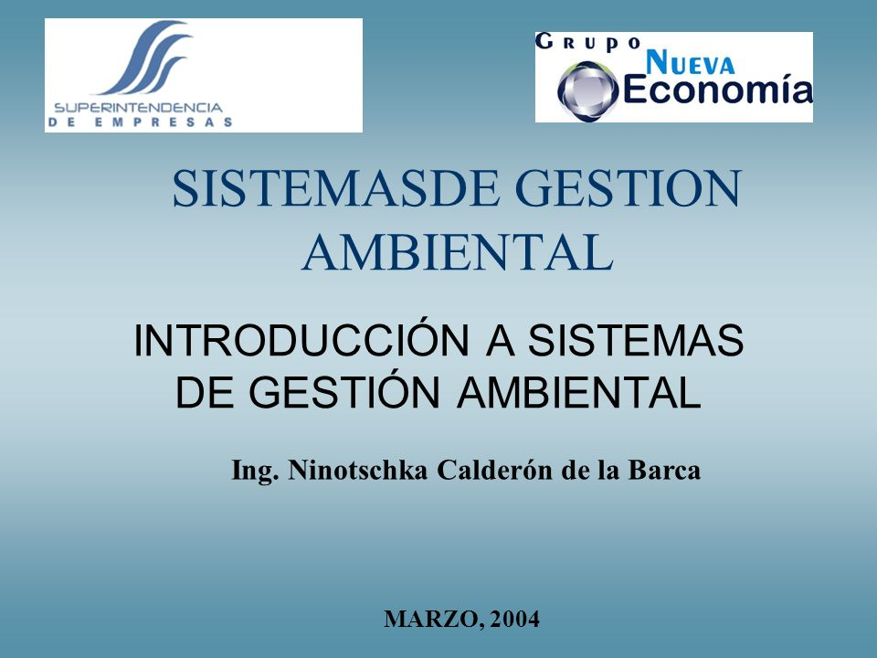 SISTEMASDE GESTION AMBIENTAL