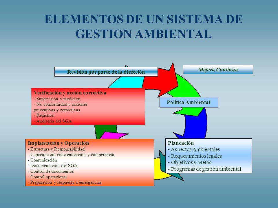 ELEMENTOS DE UN SISTEMA DE GESTION AMBIENTAL