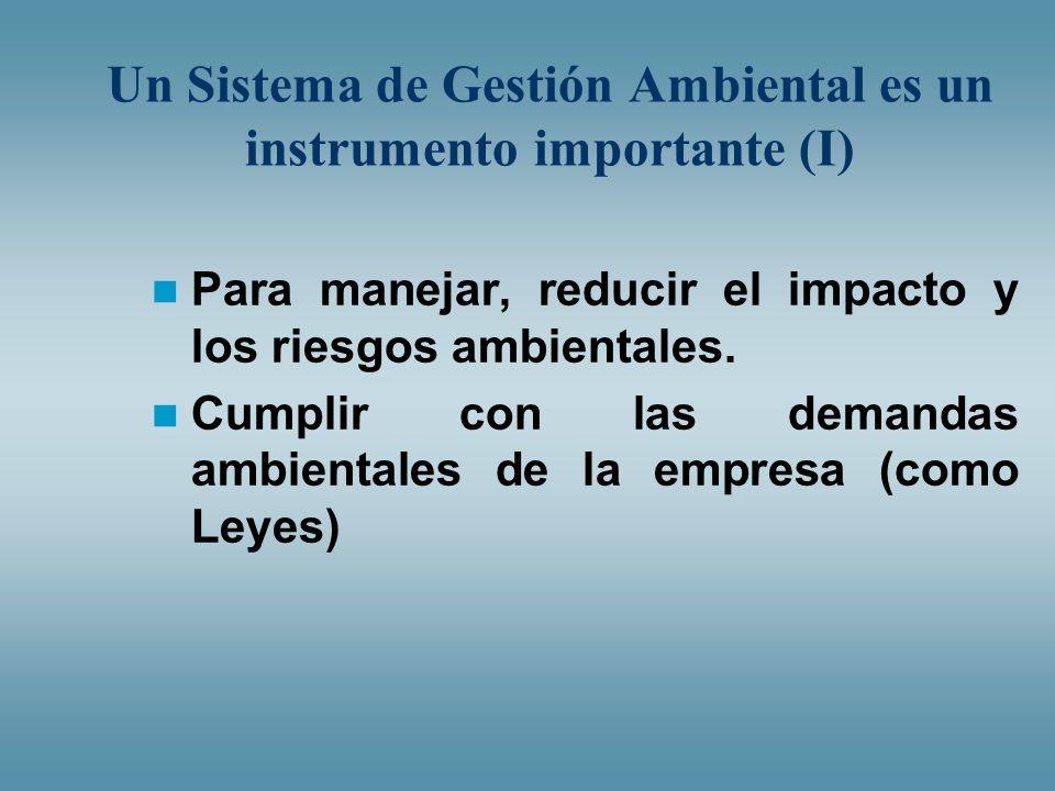 Un Sistema de Gestión Ambiental es un instrumento importante (I)