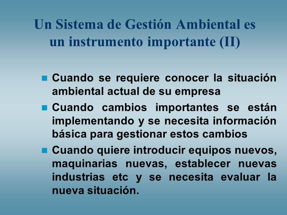 Un Sistema de Gestión Ambiental es un instrumento importante (II)