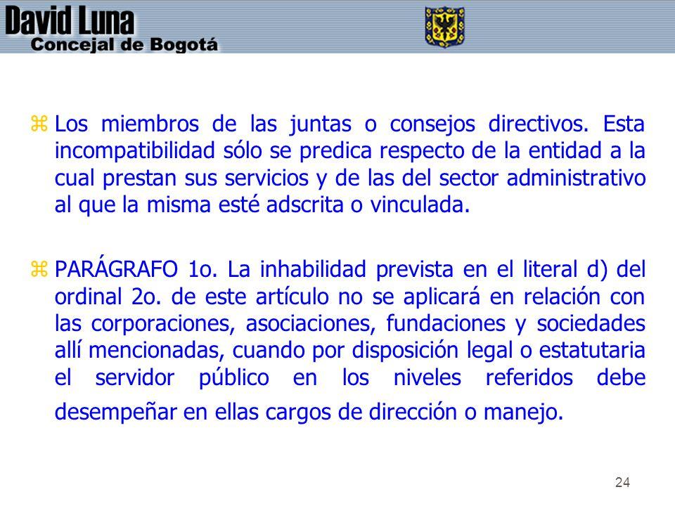Los miembros de las juntas o consejos directivos