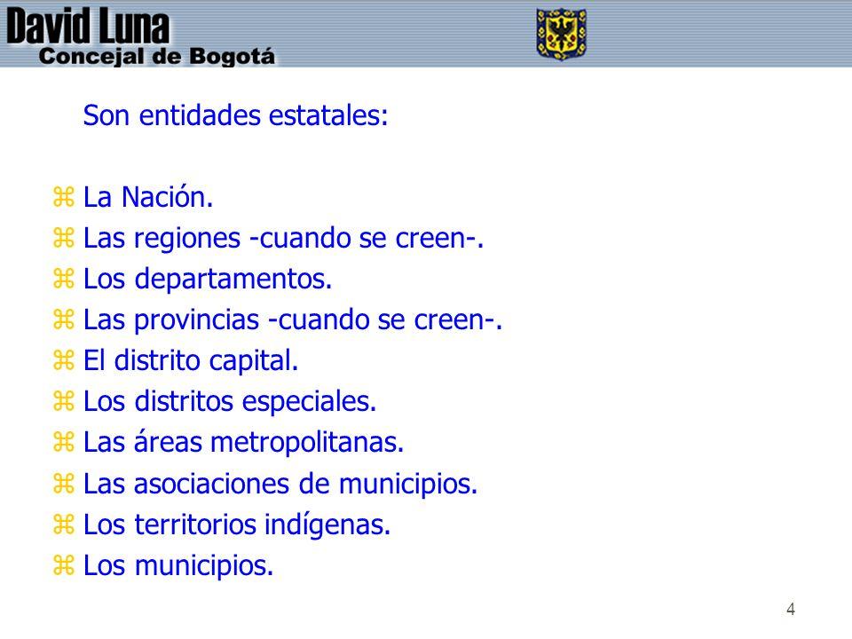 Son entidades estatales: