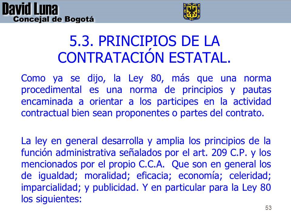 5.3. PRINCIPIOS DE LA CONTRATACIÓN ESTATAL.
