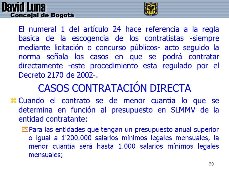 CASOS CONTRATACIÓN DIRECTA