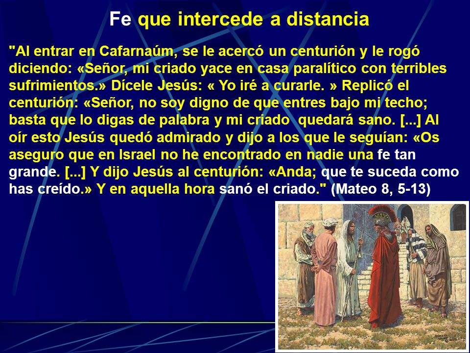 Fe que intercede a distancia