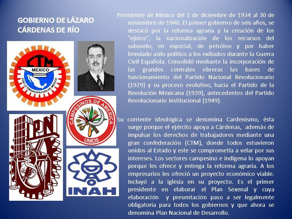 GOBIERNO DE LÁZARO CÁRDENAS DE RÍO