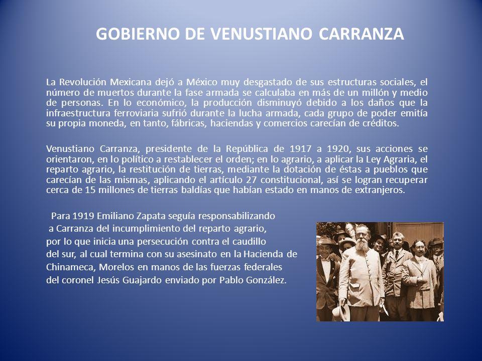 GOBIERNO DE VENUSTIANO CARRANZA