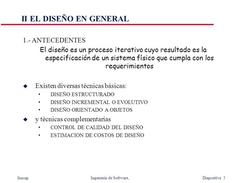 II EL DISEÑO EN GENERAL 1.- ANTECEDENTES