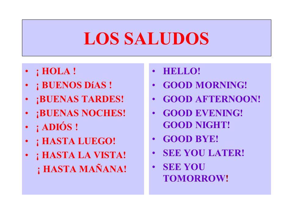 Good Morning How Are U In Spanish : A espaÑol i ii to spanish by sra garcia ppt descargar